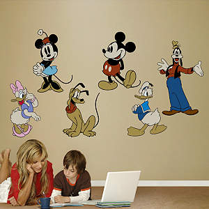Classic Mickey & Friends Fathead Wall Decal